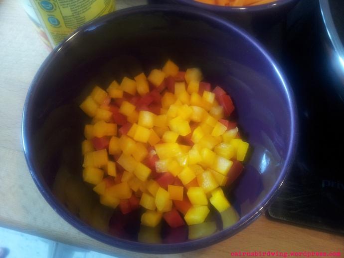 1 Paprika geschnitten