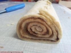 Cinnamon Rolls die njam njam Füllung querschnitt
