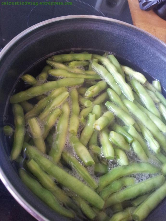 Bohnen blanchieren oder abkochen oder was auch immer