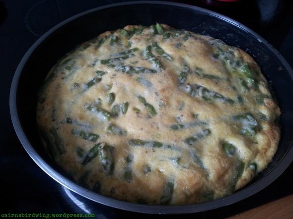 Bohnen Frittata frisch aus dem Ofen - die riecht einfach herrlich!